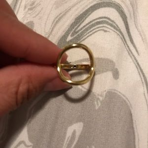 Madewell ceremony gold  tone ring